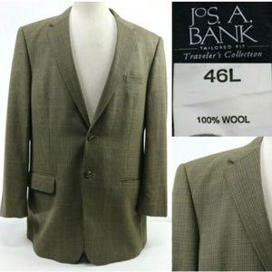 Jos. A. Bank Men's Tailored Fit Blazer Sz 46L Tan